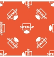 Orange sitemap pattern vector image vector image