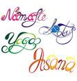 oriental symbols vector image vector image