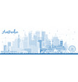 outline australia city skyline with blue buildings vector image vector image