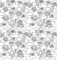 pattern with Beautiful hand drawn lotus flowers a vector image