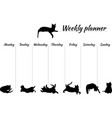 planner for a week with drawings of cats blank vector image vector image