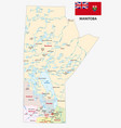 province manitoba administrative and political map vector image vector image