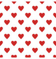 red heart pattern seamless vector image