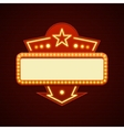 Retro Showtime Sign Design Cinema Signage Light vector image vector image