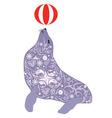 seal violet vector image vector image