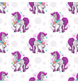 seamless pattern with cute cartoon pretty fantasy vector image vector image