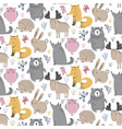 seamless pattern with hand drawn wild vector image vector image