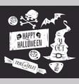 set halloween badges vector image vector image