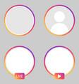set instagram stories icon vector image