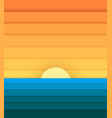 sun and sea from paper modern banner for design vector image