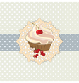 Sweet cupcake invitation background vector image vector image
