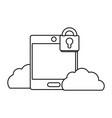 technology computing security cartoon vector image