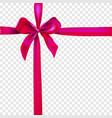 the dark pink ribbon vector image