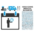Time Manager Calendar Day Icon With 1000 Medical vector image vector image