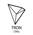 tron cryptocurrency symbol vector image vector image