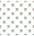Two axes pattern cartoon style vector image vector image