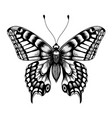 silhouette of butterfly black and white tattoo vector image