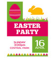 easter party invitation poster flyer design vector image