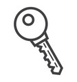 key line icon security and password vector image