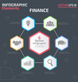 6 option infographic design template vector image vector image