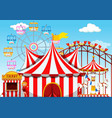 a theme park background vector image