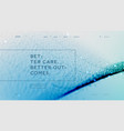 abstract landing page template with a blue vector image vector image