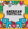 american football tools background design vector image vector image