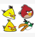 angry birds set vector image vector image