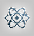 atom sign blue icon with vector image vector image