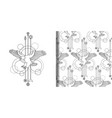 bald eagle print and seamless pattern set vector image vector image