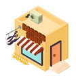 barber shop icon isometric style vector image
