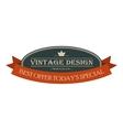 Best offer oval vintage banner vector image