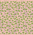 branch with green berries seamless pattern vector image vector image