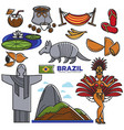 brazil culture travel landmarks and famous vector image vector image