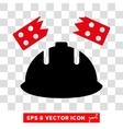 Brick Helmet Accident Eps Icon vector image