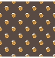 bright beer mug seamless pattern vector image vector image