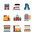 Building icon set Abstract architecture vector image vector image