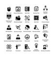 Business and finance glyph icons set 5