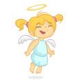 cartoon of christmas angel vector image vector image
