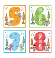 collection of numbers vector image vector image