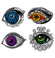 decorative eyes vector image vector image