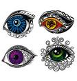 decorative eyes vector image vector image