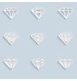 Diamond Paper Icons vector image vector image