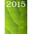 ecology themed calendar 2015 vector image vector image