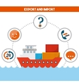 Export and import design vector image vector image