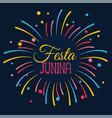 festa junina celebration card design vector image vector image