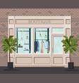 graphic facade vintage boutique detailed vector image vector image