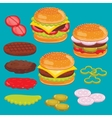 Hamburger and cheesburger ingredients Set vector image