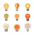 ideas lamp logo electronics light energy bulb vector image