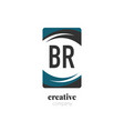 initial letter br creative abstract logo template vector image vector image